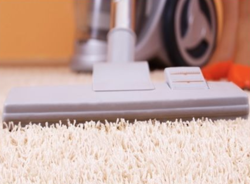 vacuuming high pile shag carpet