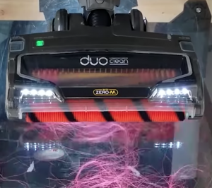 vacuuming long human hair