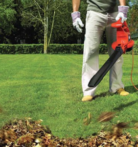 using leaf vacuum mulcher
